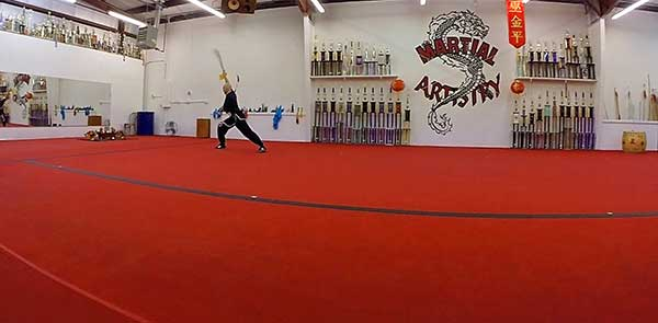 Brian Baker kung fu double broadsword Albuquerque martial arts karate