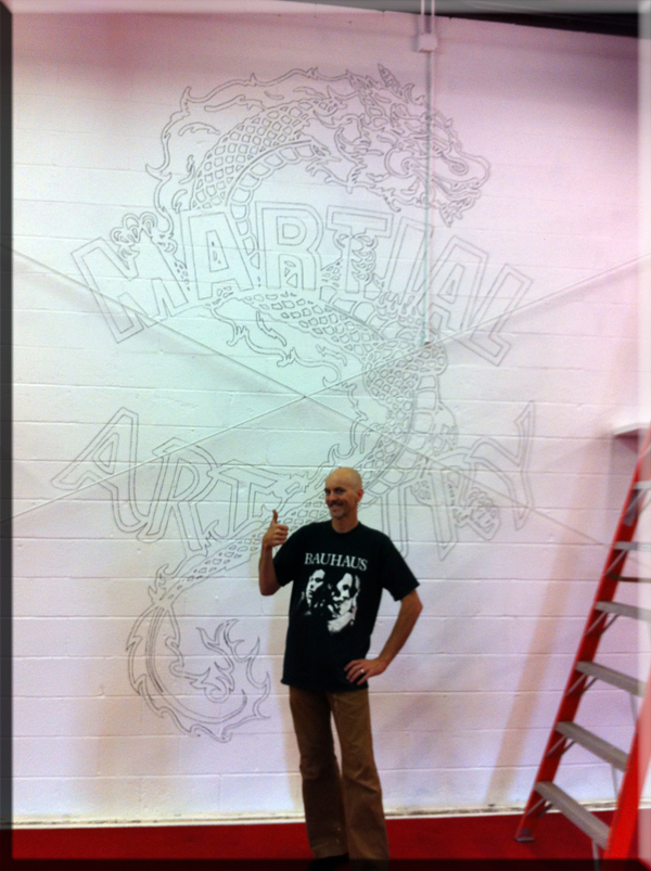 Brian Baker wall logo drawn 600