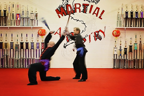 Todd Coffey Randy Lantz kung fu broadsword fight