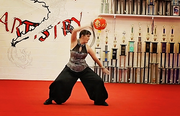 Shaolin kung fu bullwhip, performed by Lydia Eggert at our Chinese New Year celebration.