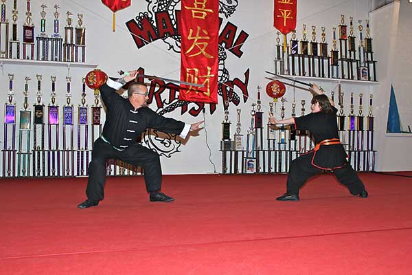 kung fu weapon fighting set Connor George Bennett