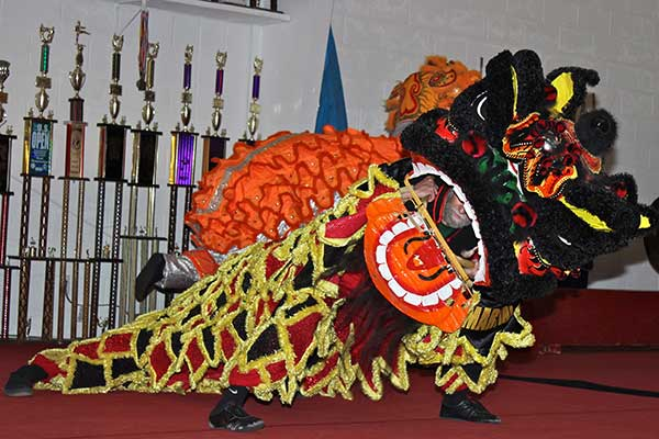 lion dance Albuquerque kung fu school Chinese New Year