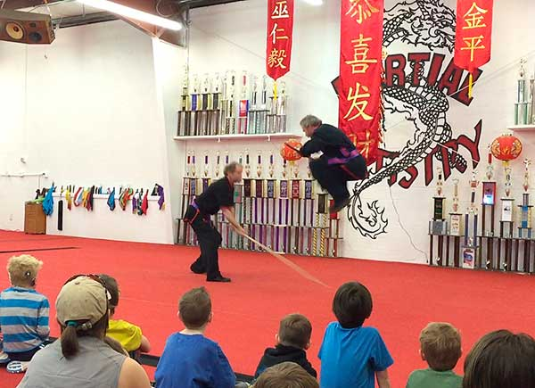 shaolin kung fu staff fight set martial arts Albuquerque