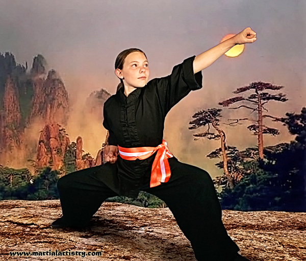 Lily Jensen karate kung fu martial arts classes Albuquerque