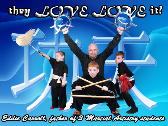 """My kids love, love it!"" says Eddie Carroll of Martial Artistry's kid's classes in Albuquerque."